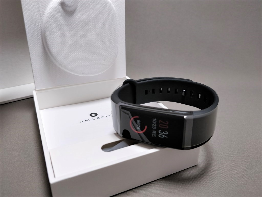 Xiaomi AMAZFIT Heart Rate Smartband 化粧箱 開封2