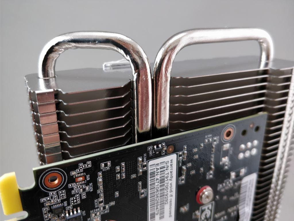 Palit GeForce GTX 1050 Ti KalmX  ヒートパイプ
