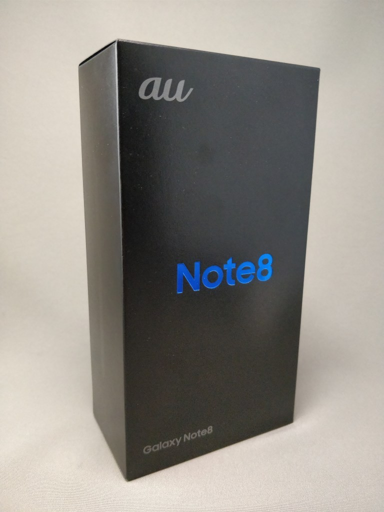 Galaxy note 8 化粧箱 斜め