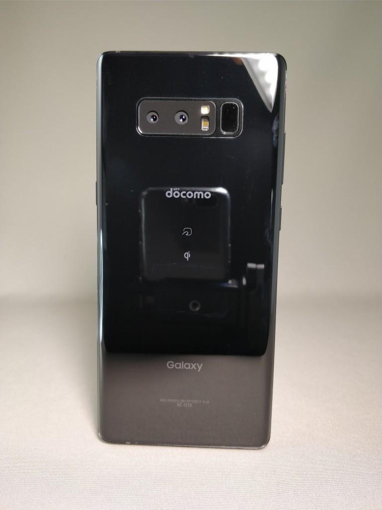 Galaxy note 8 裏 ブラック 正面6