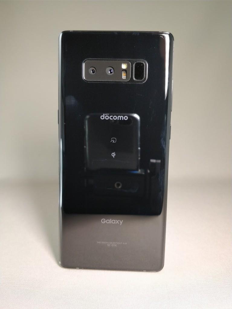 Galaxy note 8 裏 ブラック 正面1