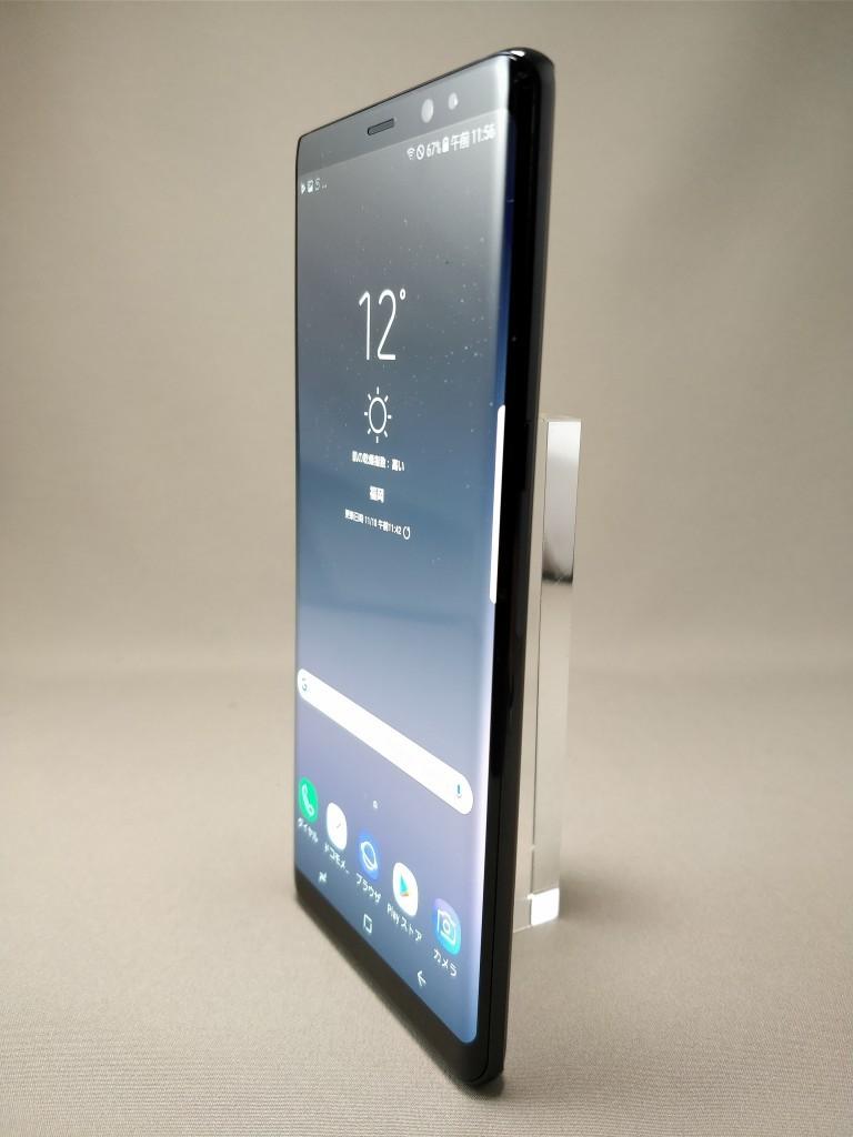 Galaxy note 8 表 ブラック 2