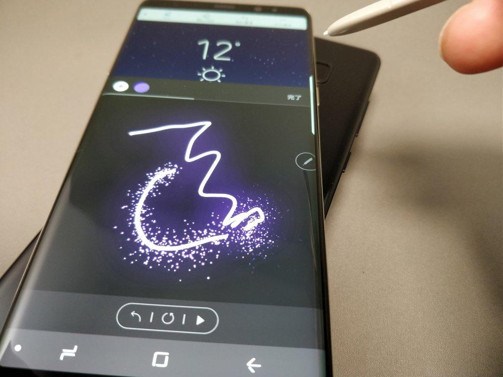 Galaxy note 8 ペンで遊ぶ1