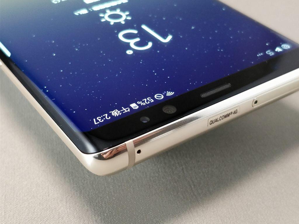 Galaxy note 8 側面斜め