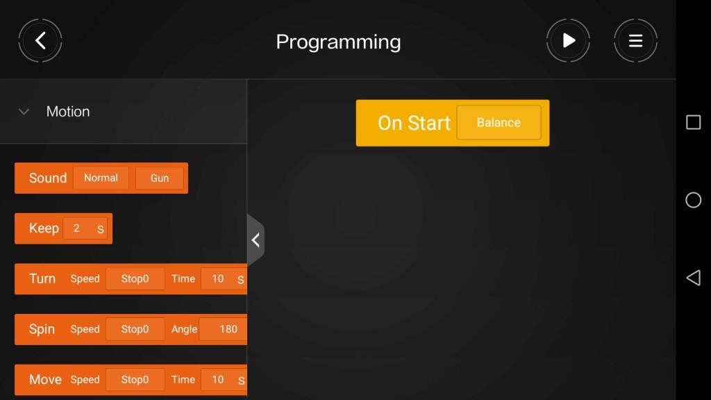 Xiaomi MITU DIY 自立走行ロボ アプリ プログラミング2