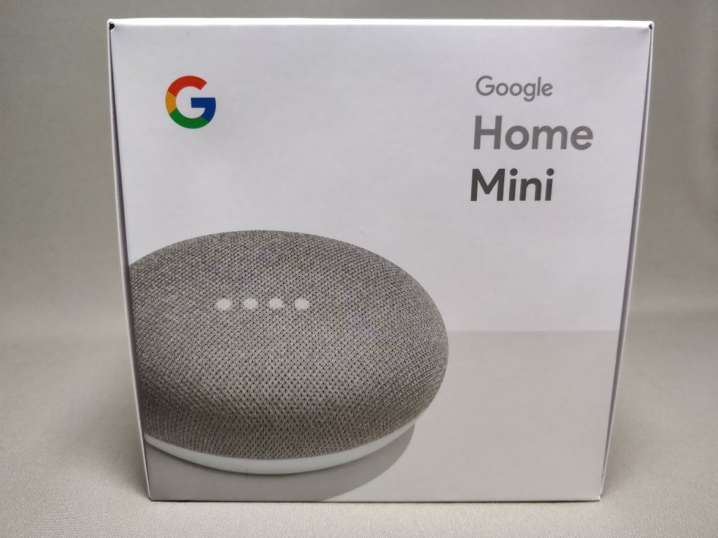 Google Home Mini 化粧箱 正面