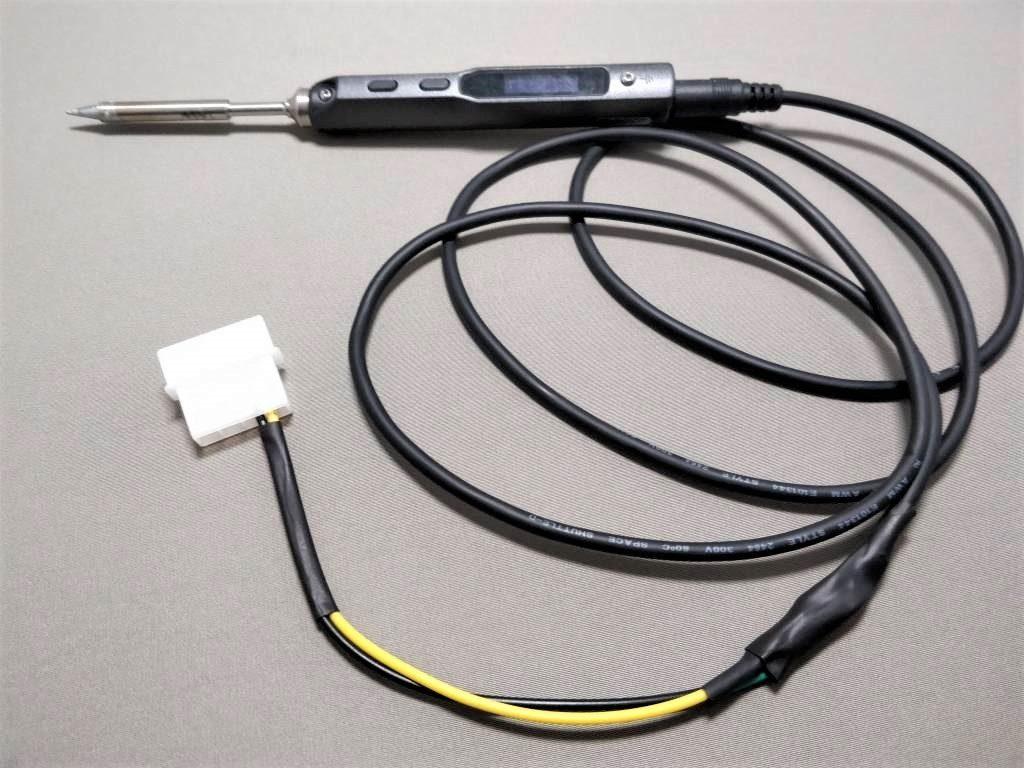 MINI TS100 ハンダゴテ  熱圧縮チューブ2