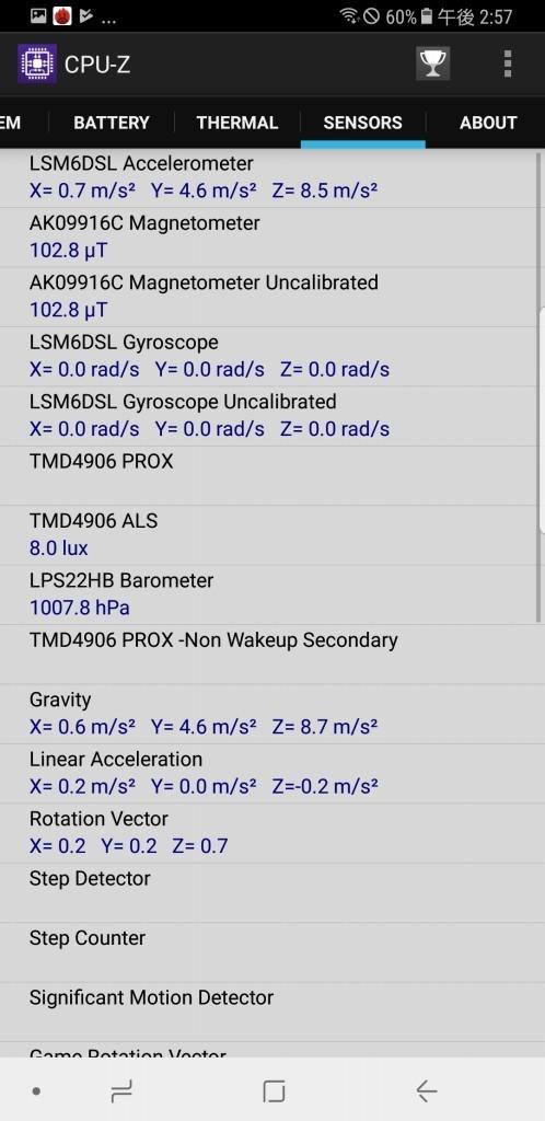Galaxy note 8 Docomo Sc-01K CPU-Z8