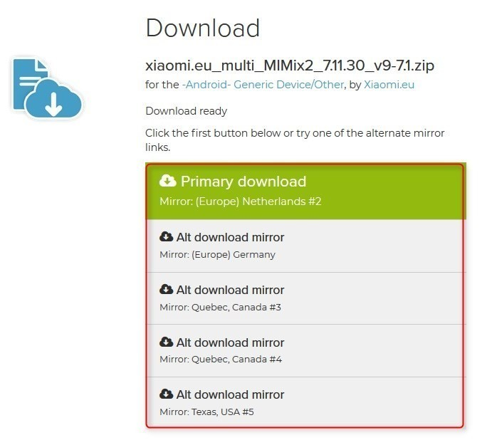 Xiaomi Mi MIX2 Xiaomi.eu ROM DL