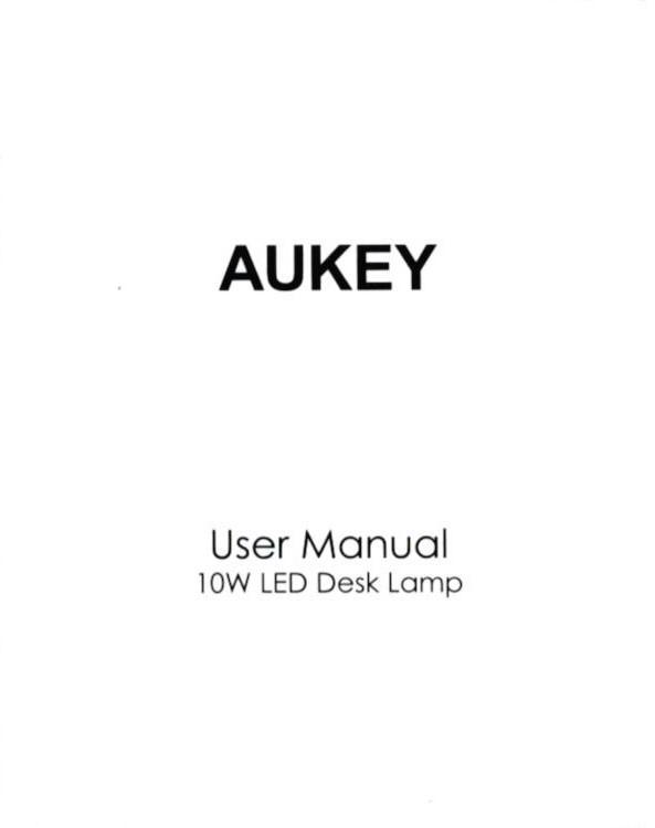AUKEY LEDデスクライト LT-ST31 取説1