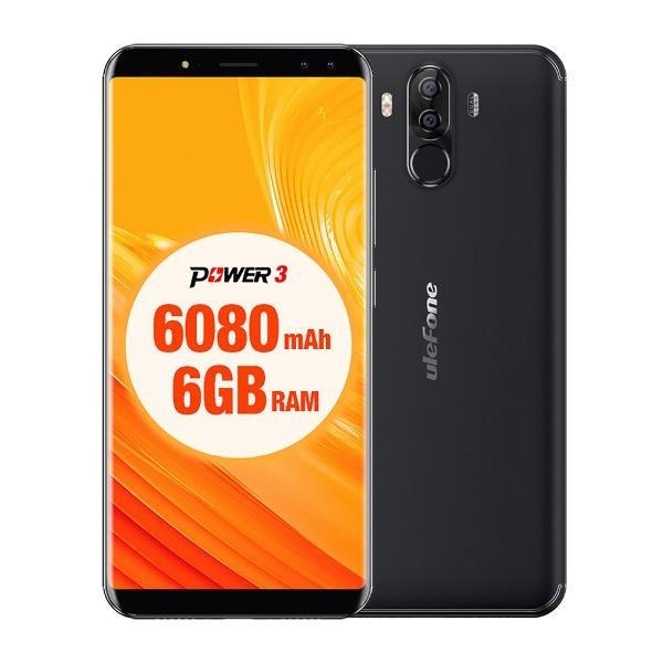 banggood Ulefone Power 3 MTK6763 Helio P23 2.0GHz 8コア BLACK(ブラック)