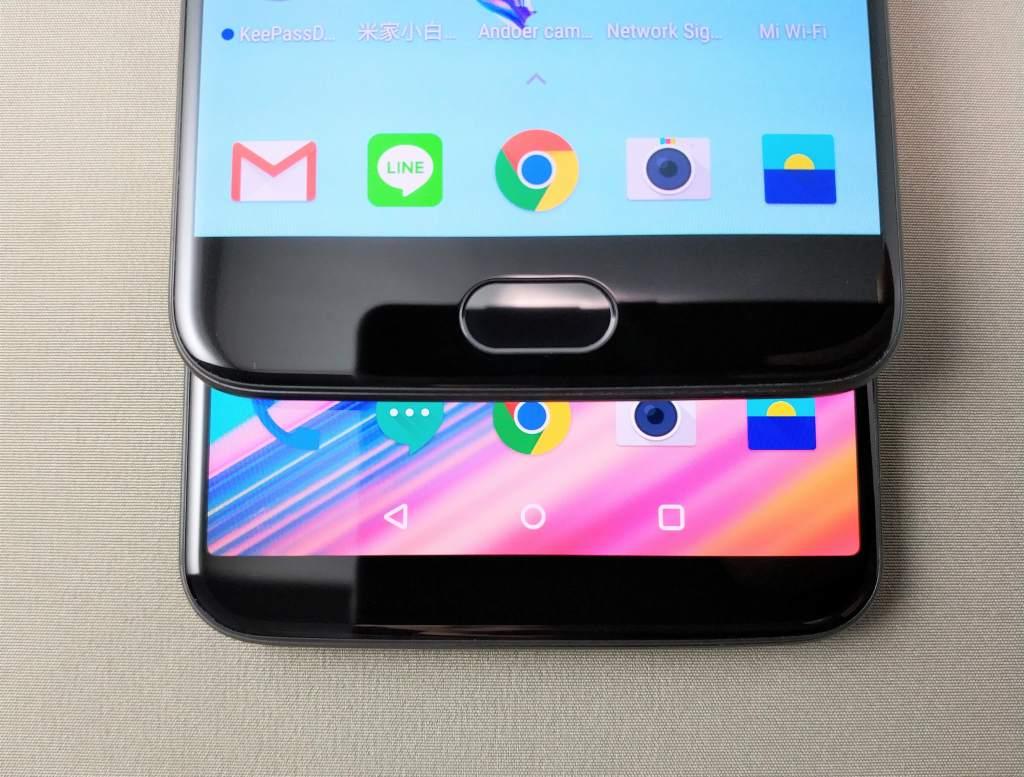 OnePlus 5Tと旧機種OnePlus 5 外観比較 下