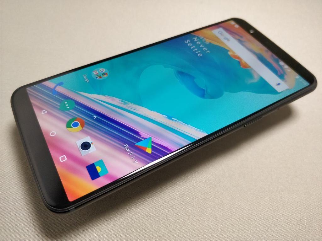 OnePlus 5T 表 斜め