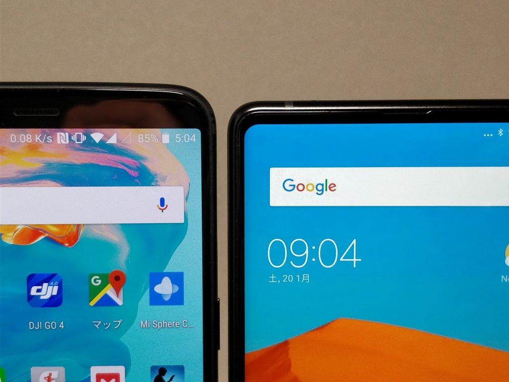 Xiaomi Mi MIX2 & OnePlus 5T 上