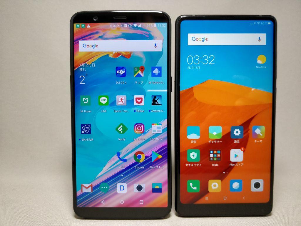 Xiaomi Mi MIX2 & OnePlus 5T 基本