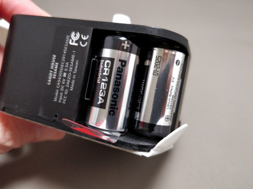 セサミ スマートロック バッテリーCA123A