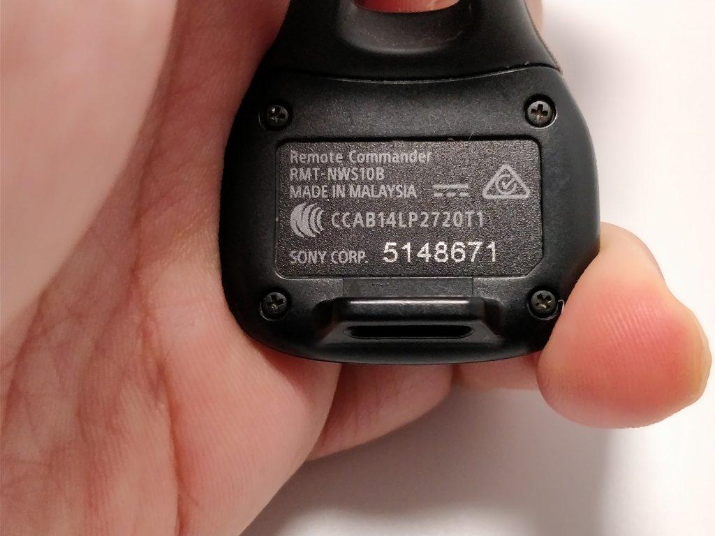 防水ウォークマン NW-WS625 NWZ-WS613と比較 指輪型リモコン 裏 旧