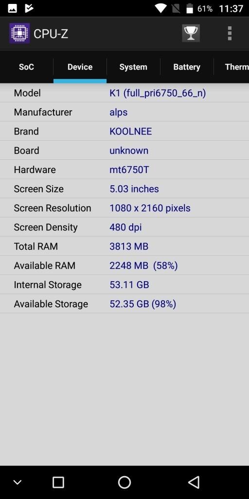 KOOLNEE K1 CPU-Z2