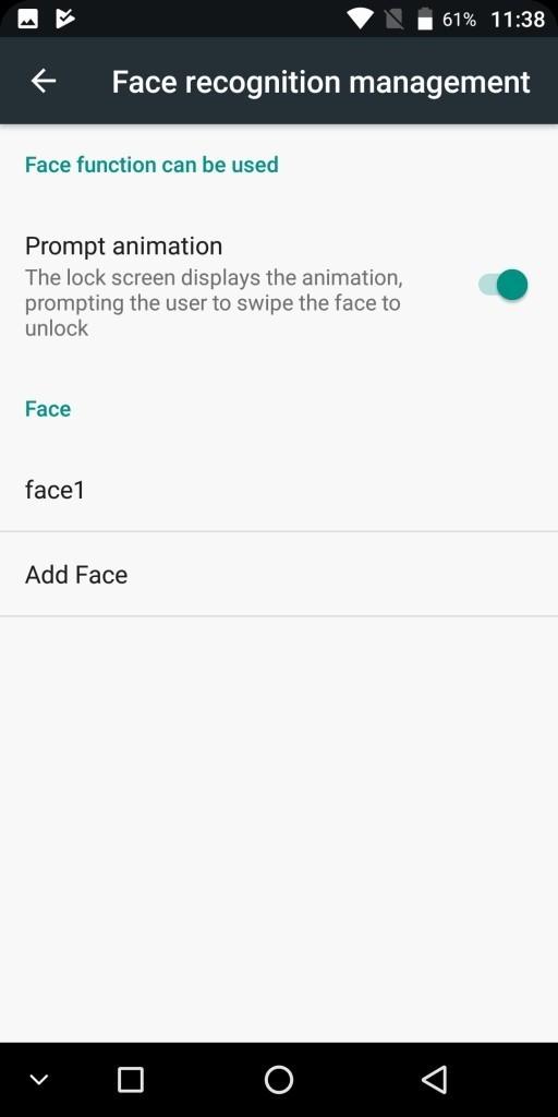KOOLNEE K1 Face recognition