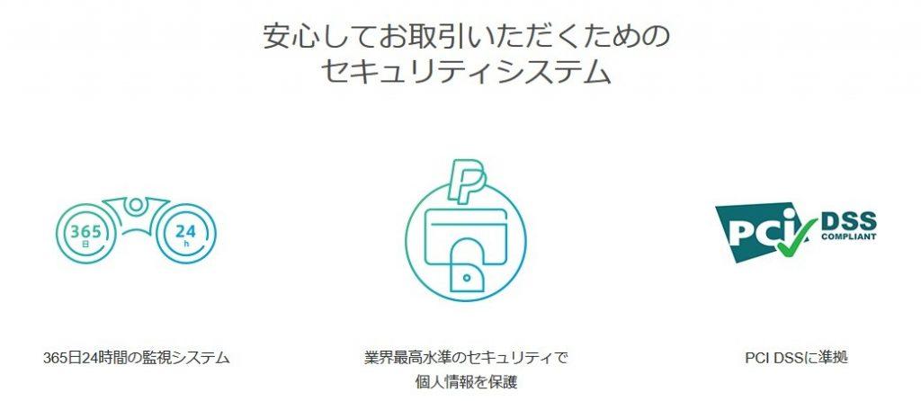 Paypalの安全性 PCI DSS基準