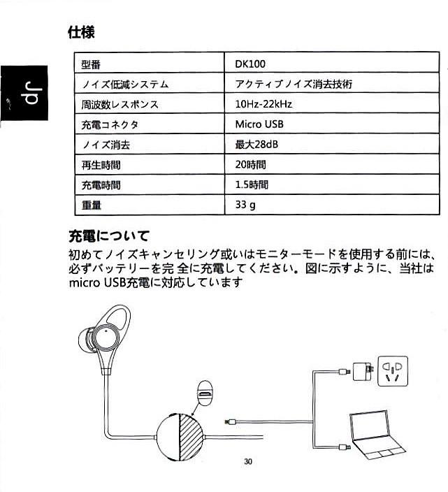 DECOKA ノイキャン ワイヤード イヤホン 取説5