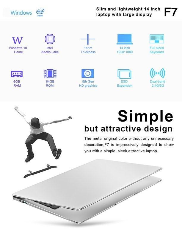 Teclast F7 Notebook 商品画像 スペック