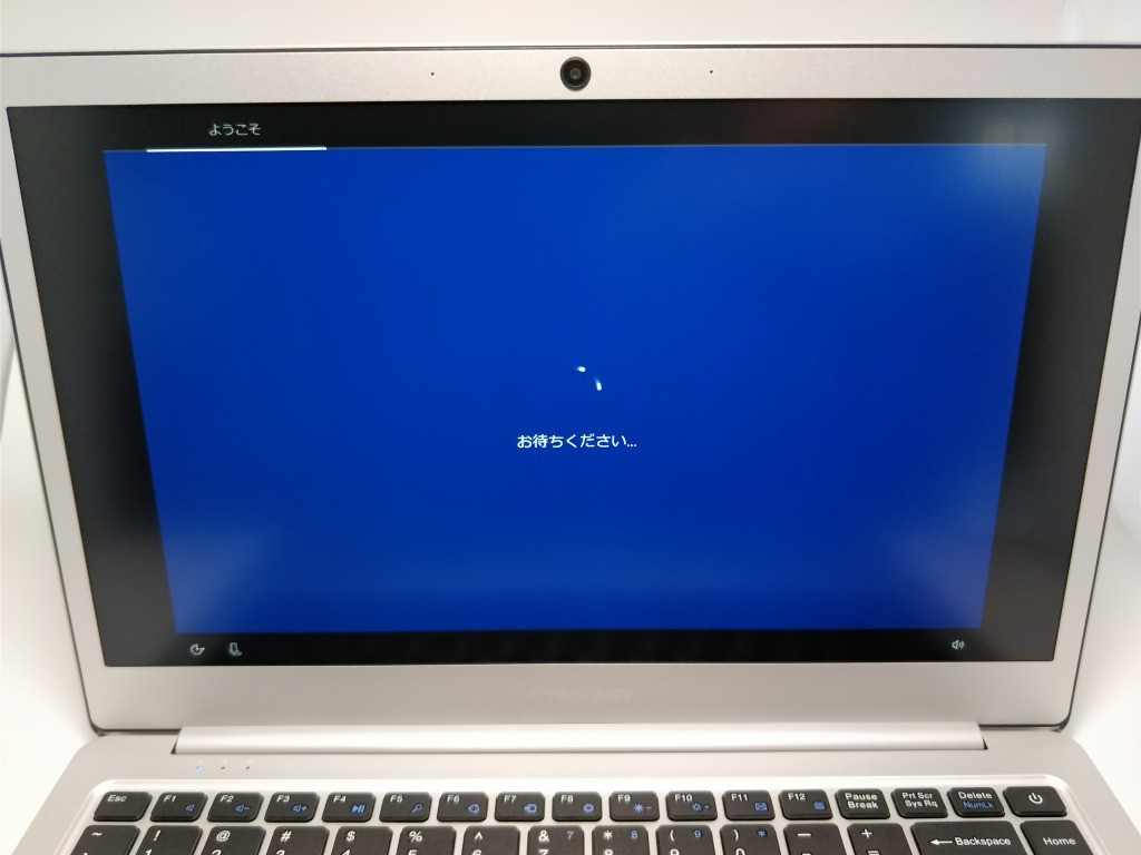 Teclast F7 Notebook 起動 初期設定