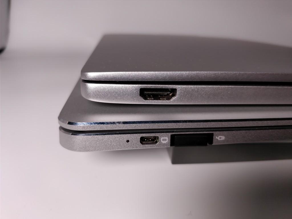 Teclast F7 Notebook VS Xiaomi Notebook air 比較 前 左