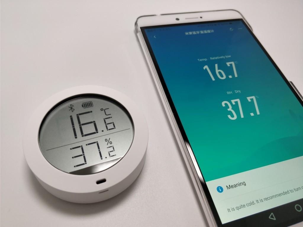 Xiaomi Mijia 温湿度計 スマホ ペアリング2