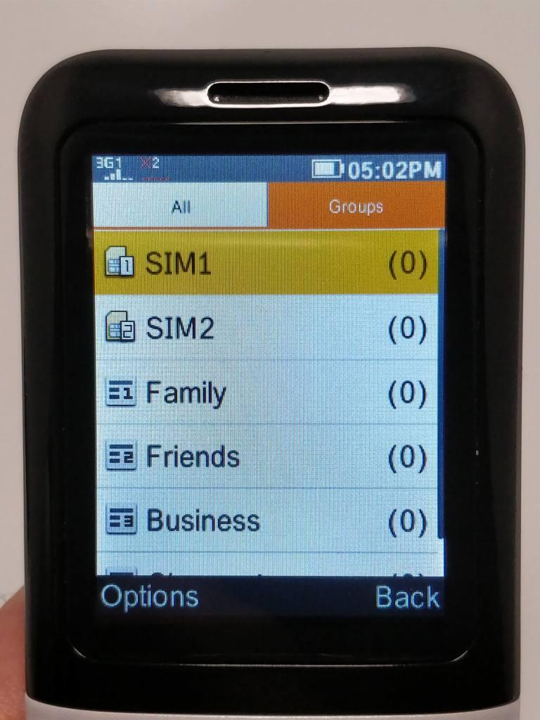 Samgle 3310 X 3G  電話帳