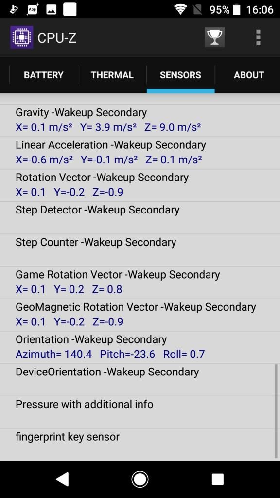 Sony Xperia XZ1 CPU-Z11