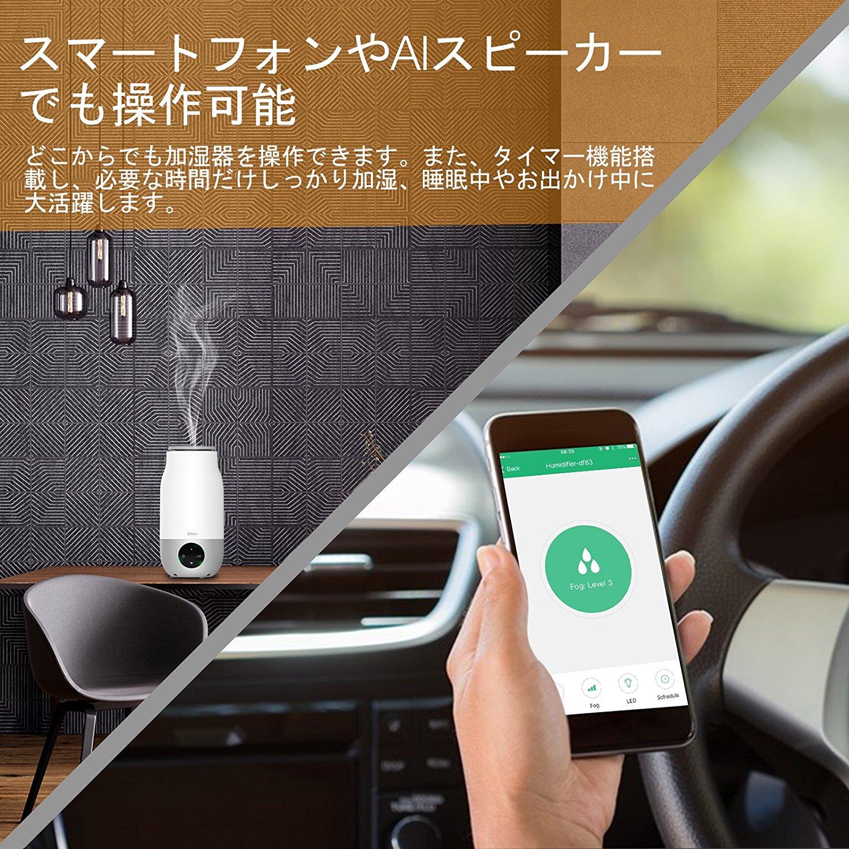 Oittm 超音波式3L スマート加湿器 アプリ