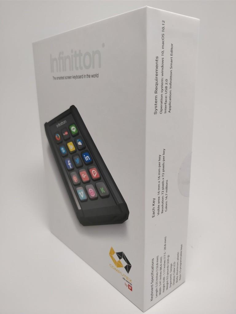 Infinitton 液晶キーボード 化粧箱 斜め左