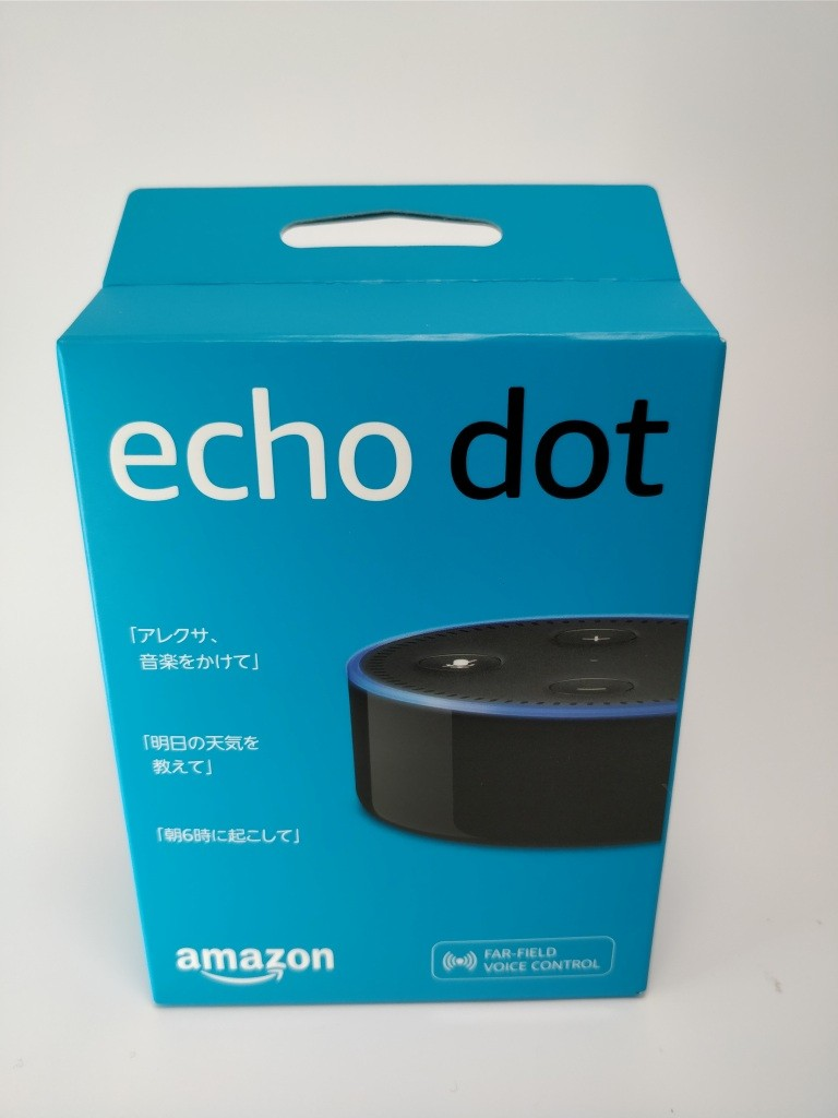 Amazon Echo Dot 化粧箱 表
