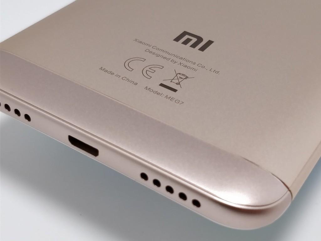 Xiaomi Redmi 5 Plus 裏面 マーク