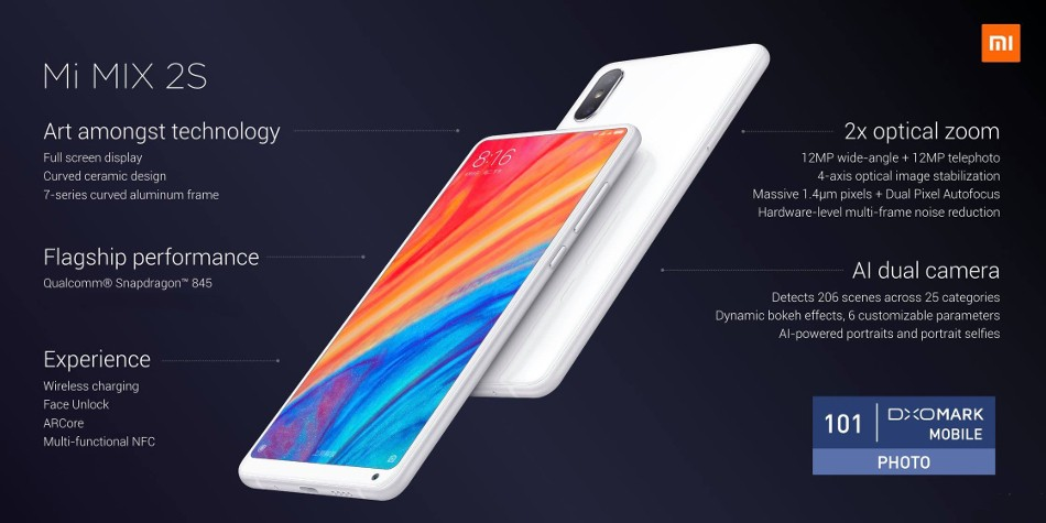 Xiaomi Mi MIX 2S 本体