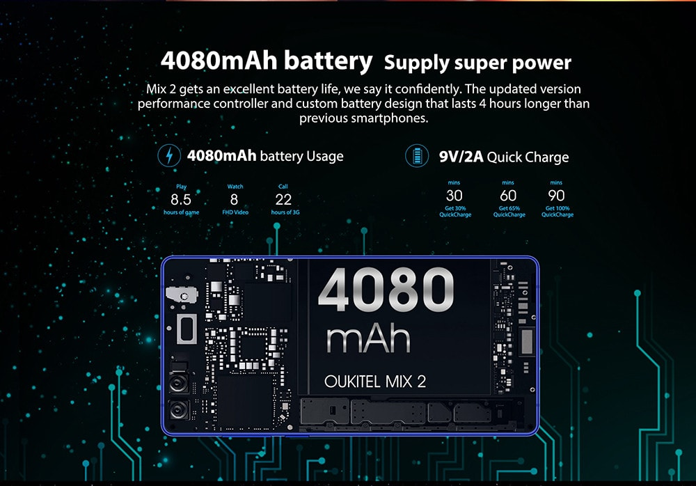 OKUKITEL MIX 2 商品画像 バッテリー