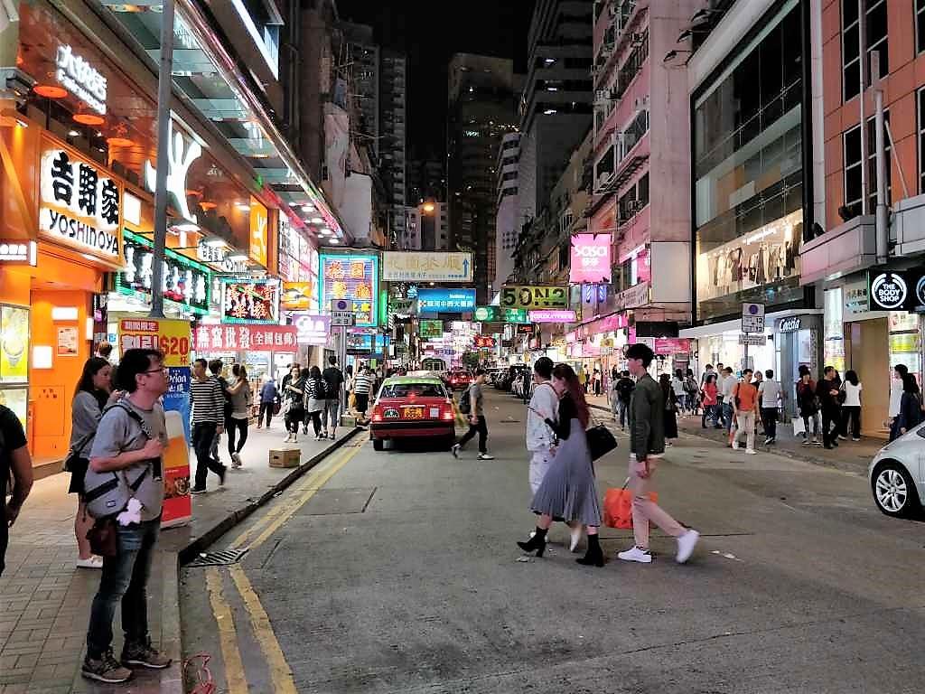 香港島 夜の散歩