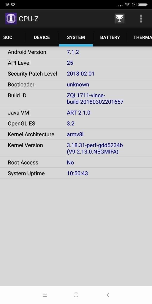 Xiaomi Redmi 5 Plus CPU-Z 5