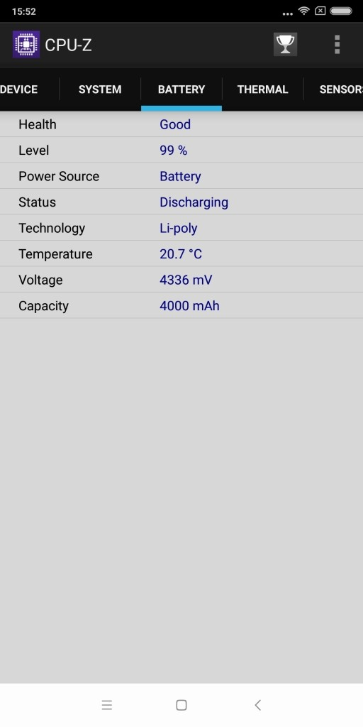 Xiaomi Redmi 5 Plus CPU-Z 6