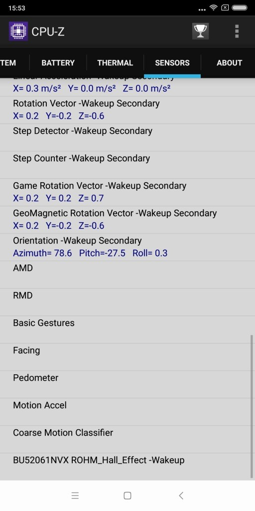 Xiaomi Redmi 5 Plus CPU-Z 2