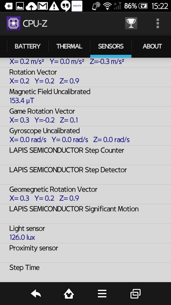 Disney Mobile on docomo SH-02G CPU-Z 6
