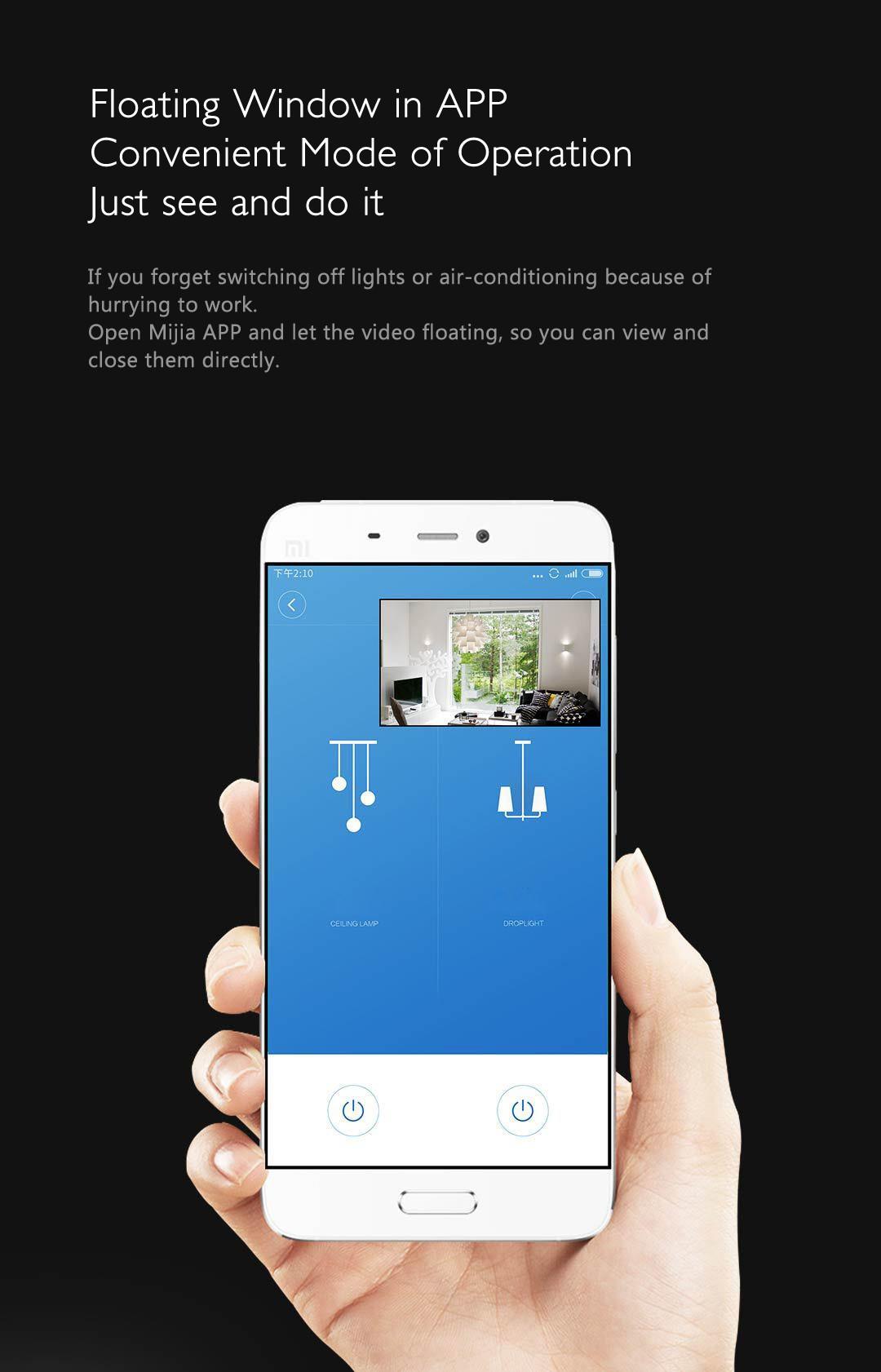 Xiaomi Mijia Aqara 180度HD IPカメラ ホームゲートウェイ スイッチ