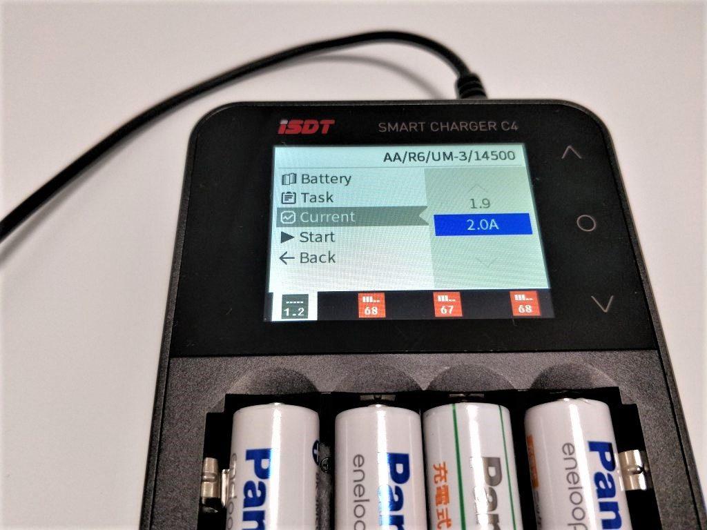 ISDT C4 8Aバッテリー充電器 ニッケル水素電池 2A