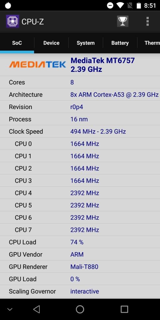 OKUKITEL MIX 2 CPU-Z 3