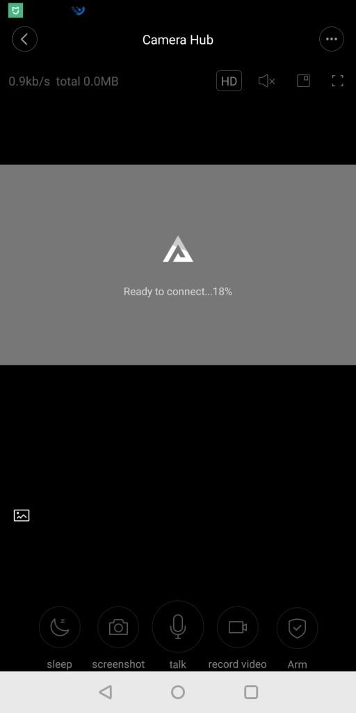 Xiaomi Mijia Aqara 180度HD IPカメラ 接続中