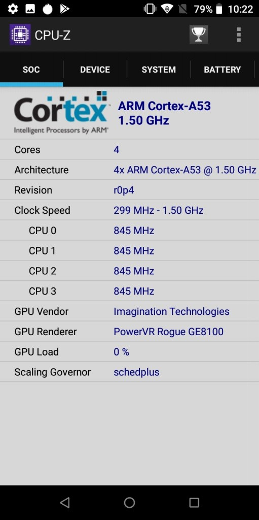 UMIDIGI A1 Pro CPU-Z5