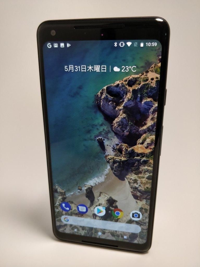Pixel 2 XL 表面 斜め