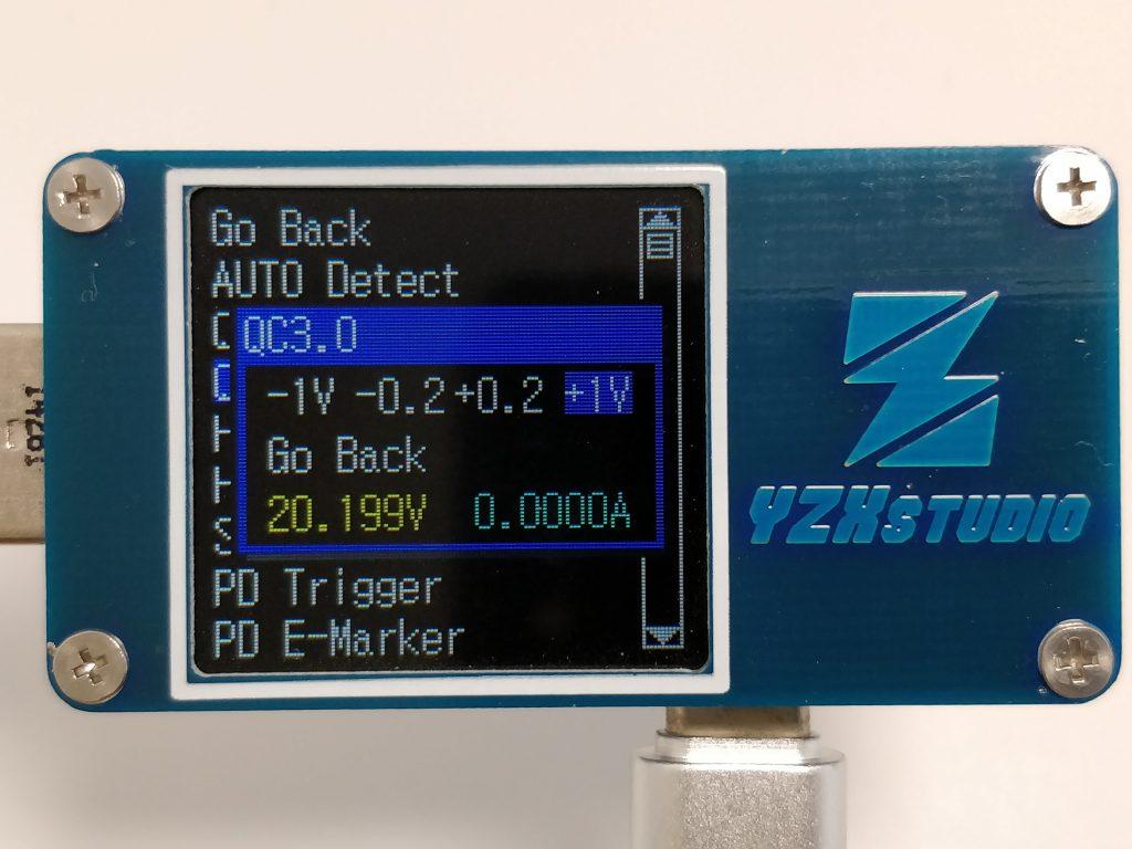 USB  Type-C PD対応のUSBアダプタ QC3.0