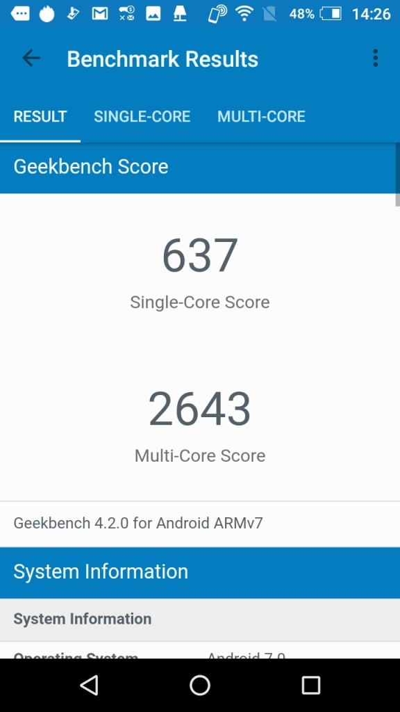 AQUOS EVER GeekBench